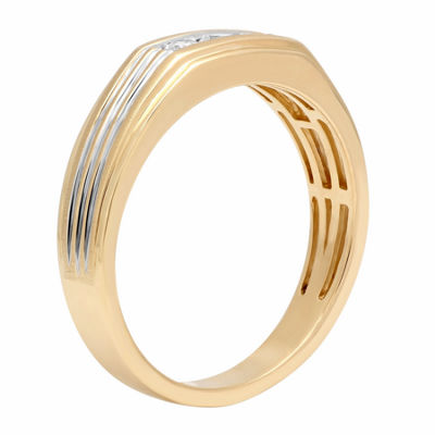 Mens 1/4 CT. T.W. White Diamond 10K Gold Band