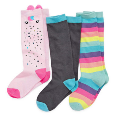 Total Girl 3 Pair Knee High Socks