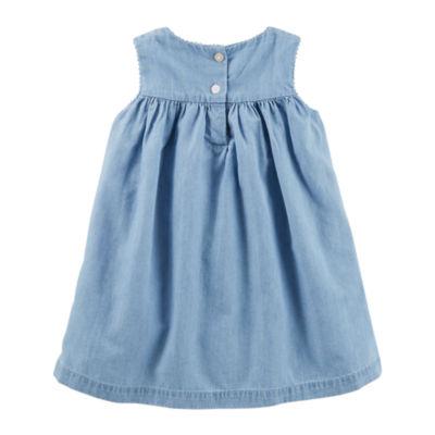 Oshkosh Sleeveless A-Line Dress - Baby Girls