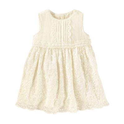 Oshkosh Sleeve Ivy Lace Dress - Baby Girls
