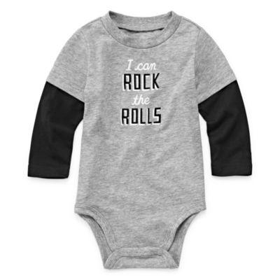 Okie Dokie Long Sleeve Graphic Bodysuit - Baby Boy NB-24M