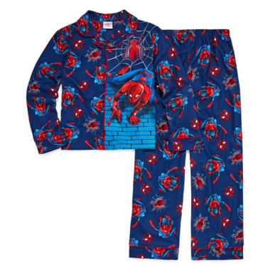 Spiderman Coat Front Pajama Set - Boys 4-20