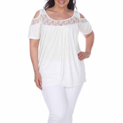 White Mark Bexley Tunic Top-Plus