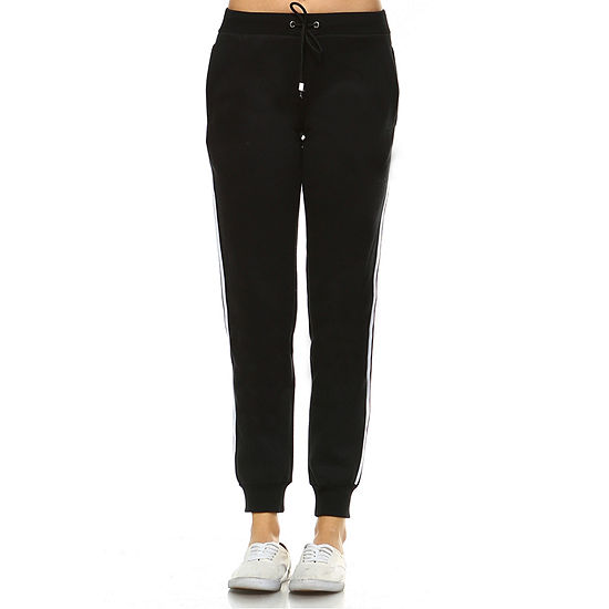 White Mark Amazingly Soft Womens Mid Rise Jogger Pant