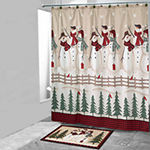 Avanti Snowman Gathering Shower Curtain