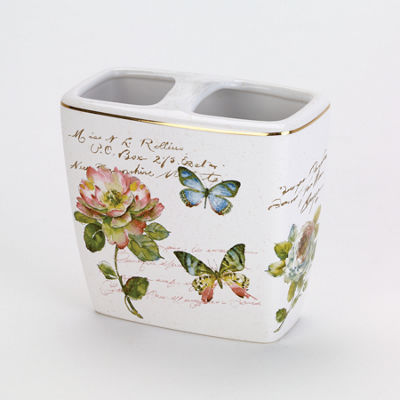 Avanti Butterfly Garden Toothbrush Holder