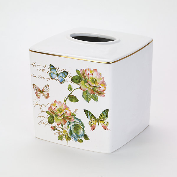 Avanti Butterfly Garden Tissue Box Cover
