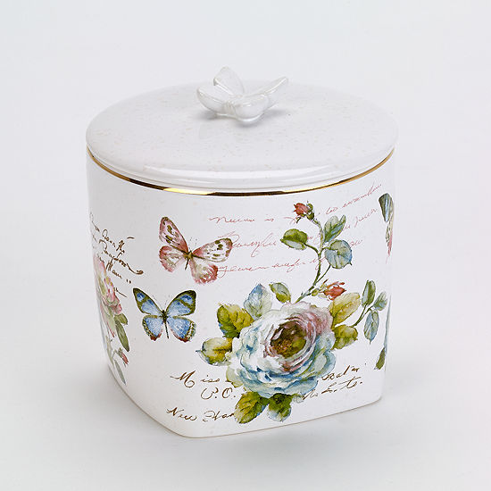 Avanti Butterfly Garden Bathroom Canister
