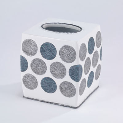 Avanti Dotted Circle Tissue Box Cover