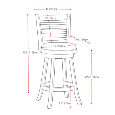 Woodgrove Cappuccino Stained Bar Height 2-pack Bar Stool
