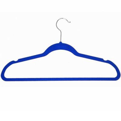 Velvet Anti-Slip Plastic Hangers- 10 Pack