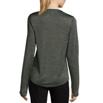 Libby Edelman Long Sleeve Space Dye Top