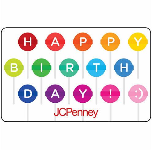 $100 Birthday Lollipops Gift Card
