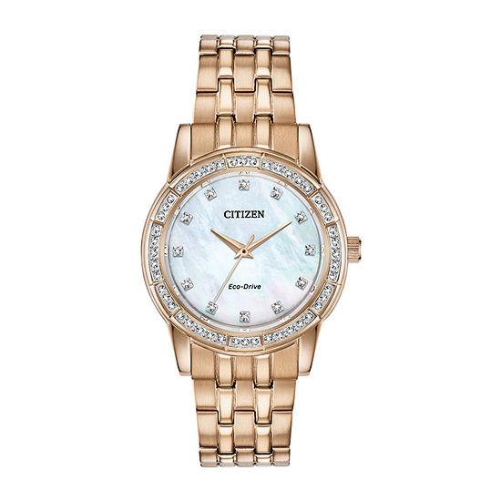 Citizen Womens Rose Goldtone Bracelet Watch-Em0773-54d