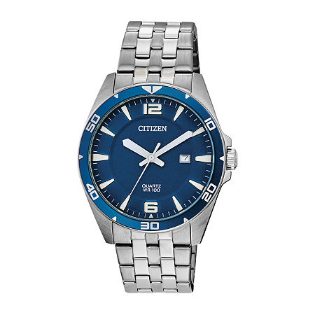 Citizen Mens Silver Tone Stainless Steel Bracelet Watch - Bi5058-52l, One Size