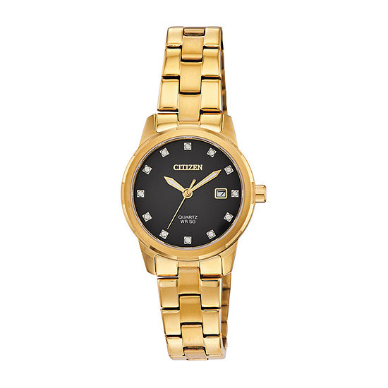 Citizen Womens Gold Tone Stainless Steel Bracelet Watch-Eu6072-56e
