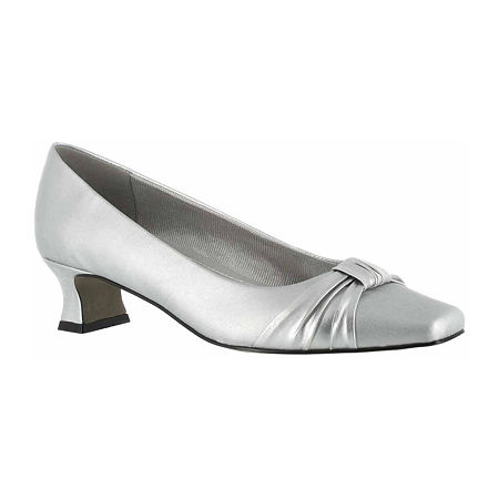 History of Victorian Boots & Shoes for Women Easy Street Womens Waive Pumps Kitten Heel 9 12 Medium Gray $41.24 AT vintagedancer.com