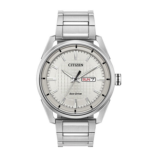 Drive from Citizen Mens Silver Tone Stainless Steel Bracelet Watch-Aw0080-57a