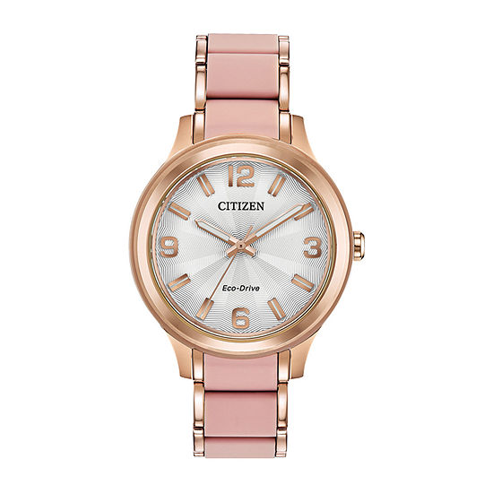 Drive from Citizen Womens Two Tone Stainless Steel Bracelet Watch - Fe7073-54a