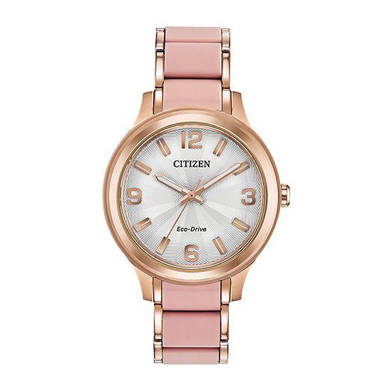Drive from Citizen Womens Two Tone Bracelet Watch-Fe7073-54a