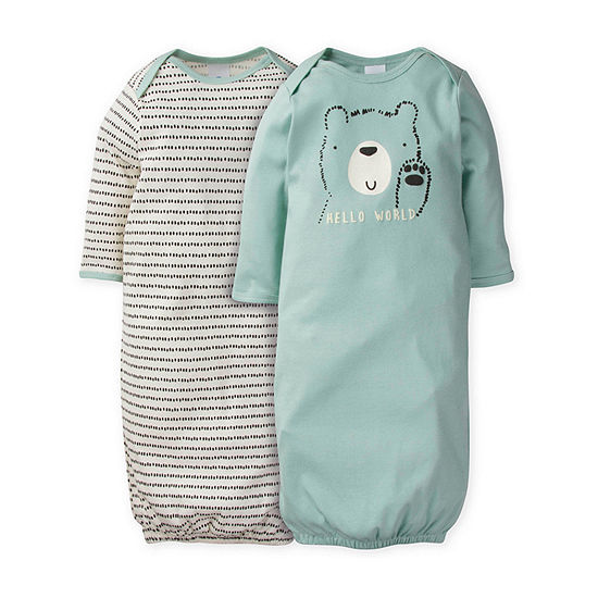 Gerber Baby Unisex 2-pc. Crew Neck Nightgown