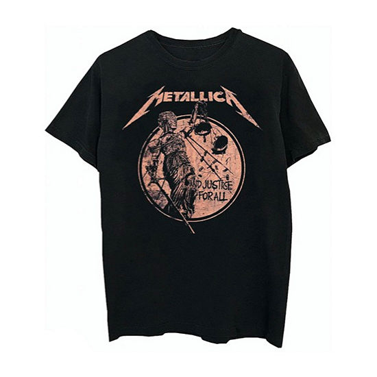 Metallica Mens Crew Neck Short Sleeve Music Graphic T-Shirt