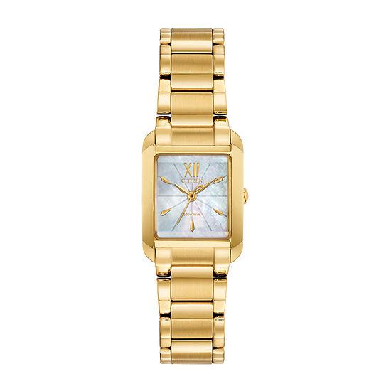 Citizen Womens Gold Tone Bracelet Watch-Ew5552-53d