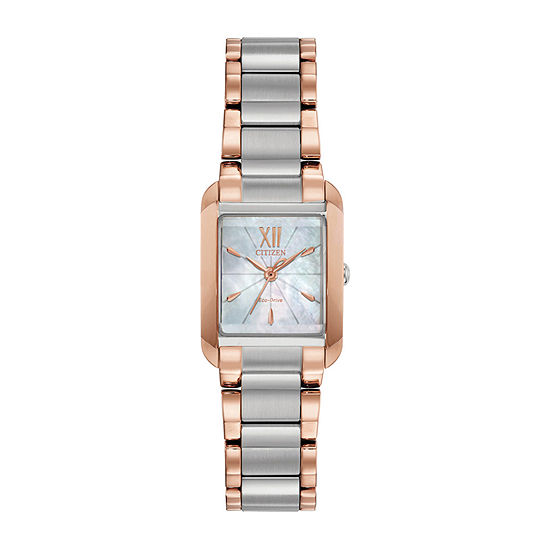 Citizen Womens Rose Goldtone Bracelet Watch-Ew5556-52d