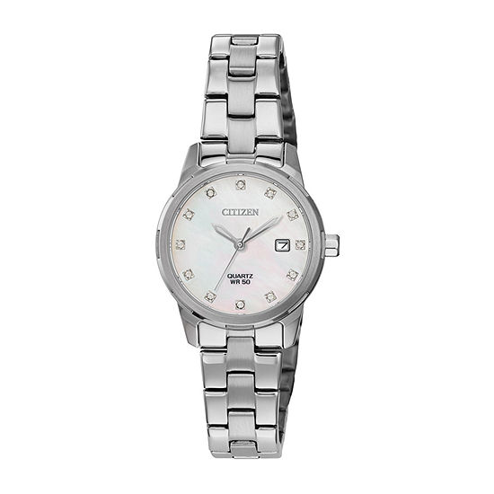 Citizen Womens Silver Tone Stainless Steel Bracelet Watch-Eu6070-51y