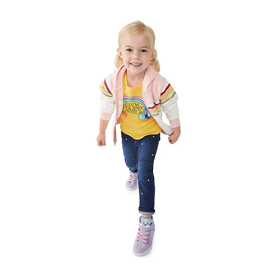 Okie Dokie Toddler Girls Hoodie, Tee Jean & Shoes