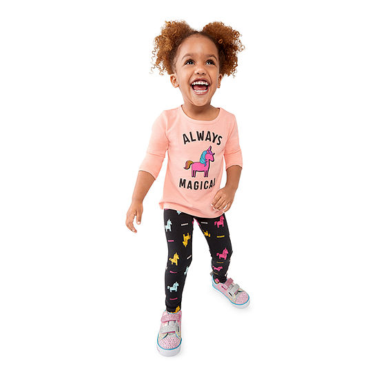 Okie Dokie Toddler Girls Graphic Tee & Legging