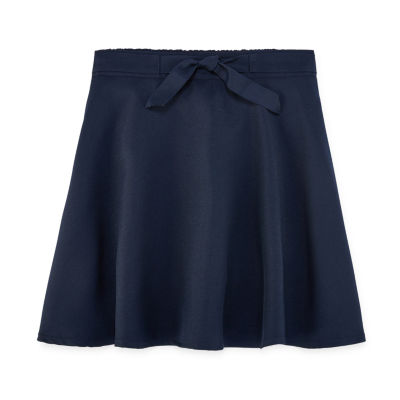 IZOD Little & Big Girls Elastic Waist Belted Scooter Skirt