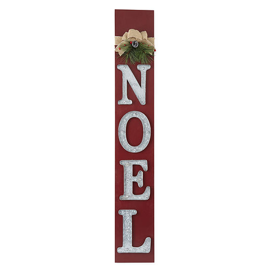 "North Pole Trading Co. ""Noel"" Led Leaner Yard Art"