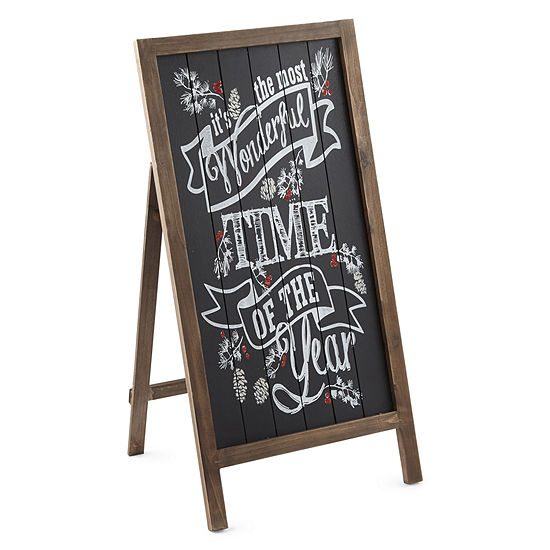 North Pole Trading Co. Chalkboard Easel Sign Yard Stake