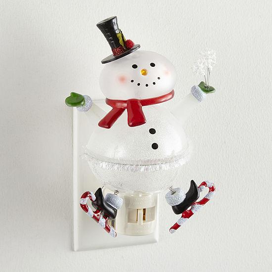 "North Pole Trading Co. 6.25"" Bobble Head Snowman Night Light"