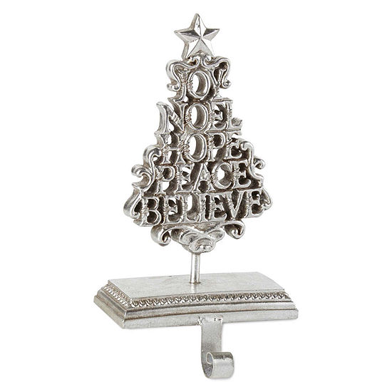 North Pole Trading Co. Scrolled Tree Stocking Holder