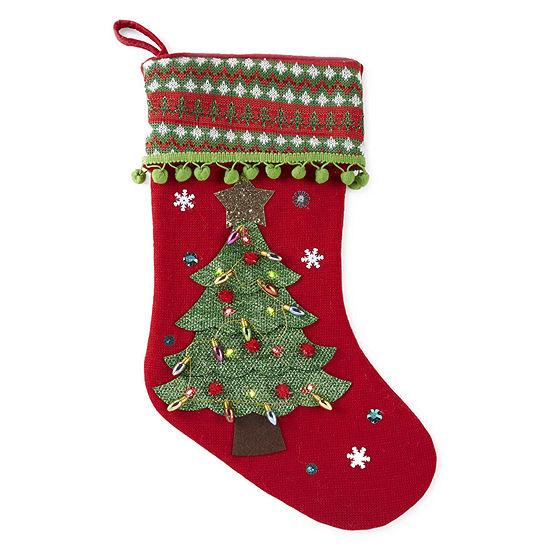 North Pole Trading Co. Led Tree Christmas Stocking