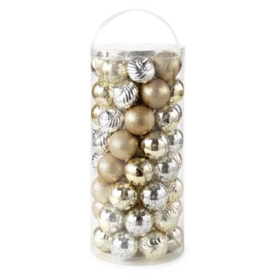 North Pole Trading Co. 60-Pc Silver & Gold Boxed Ornament Set Ornament
