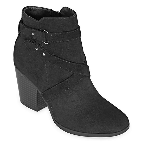 a.n.a. Womens Lexington Booties Stacked Heel
