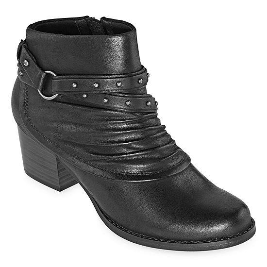 Yuu Womens Rosa Stacked Heel Booties