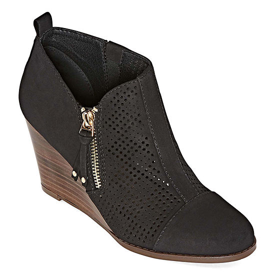 Royu Womens Zealous Booties Wedge Heel