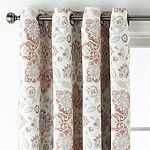 JCPenney Home Wallace Medallion Energy Saving Blackout Grommet-Top Curtain Panel