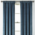 Liz Claiborne Holland Velvet Energy Saving 100% Blackout Rod-Pocket/Back-Tab Curtain Panel