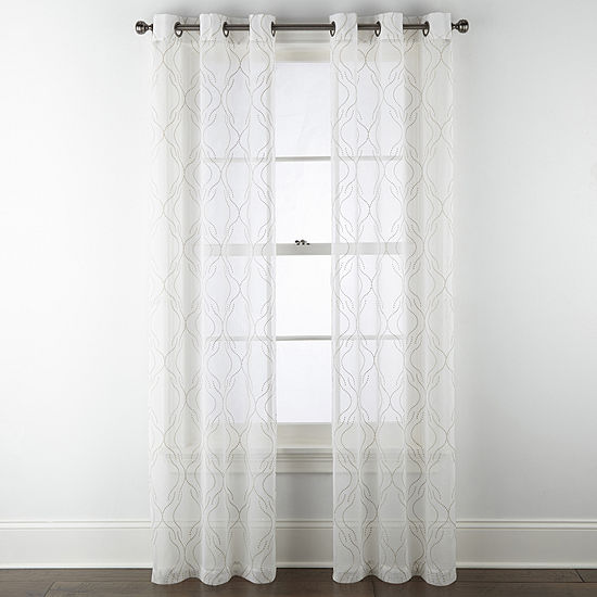 Regal Home Collections, Inc. Sterling Matte Sheer Sheer Grommet-Top Curtain Panel
