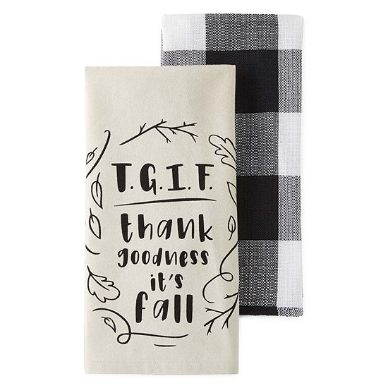 JCPenney Home Tgif 2-pc. Kitchen Towel