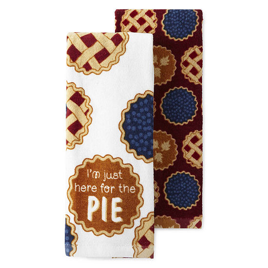 JCPenney Home Pie 2-pc. Kitchen Towel