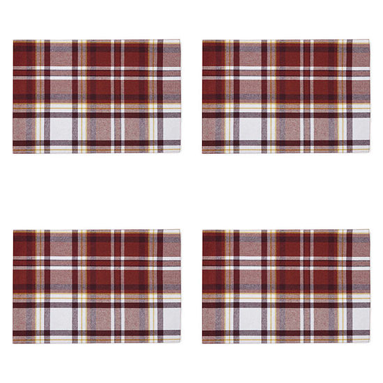 JCPenney Home Plaid 4-pc. Placemat