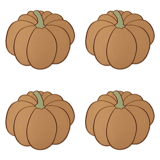 JCPenney Home Pumpkin 4-pc. Placemat