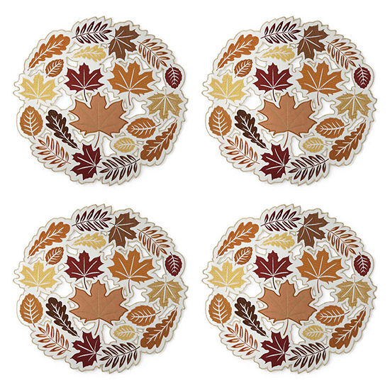 JCPenney Home Leaf Cut 4-pc. Placemat