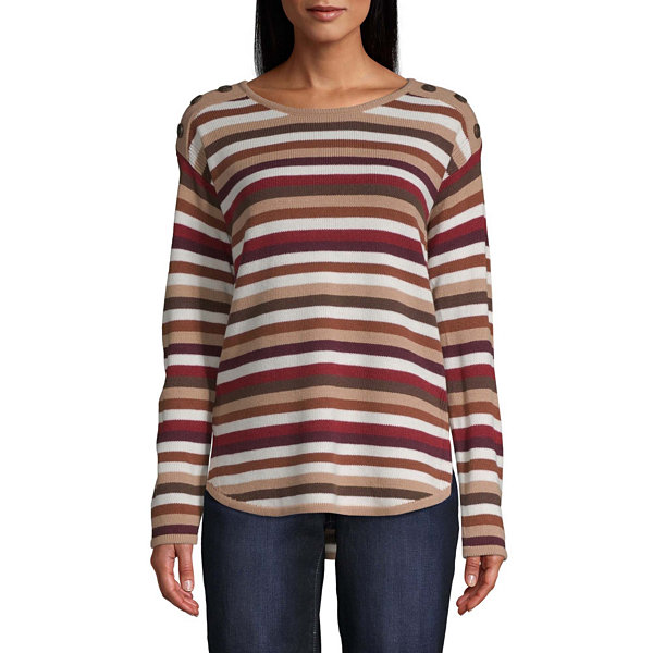 St John's Bay Button Shoulder Sweater
